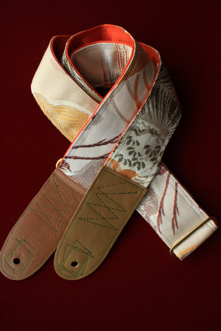 Singing Crane - Beautiful guitar strap - Shitan-or (SC112217)