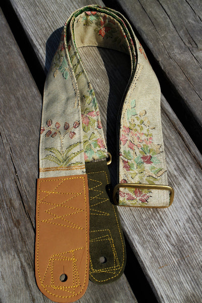 Singing Crane - Beautiful guitar strap - Mokuran-g (SC103317) =SALE=