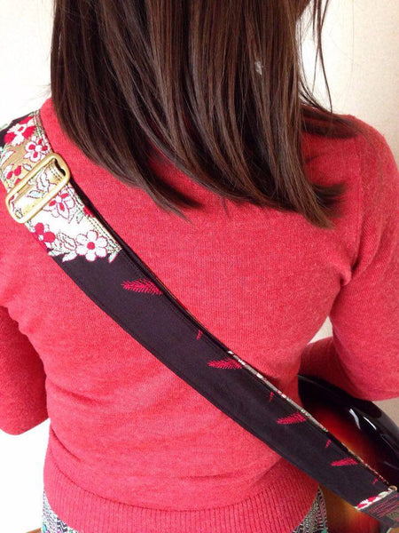 Singing Crane - Beautiful guitar strap - SC101115 : Roiro-original [only available on Reverb]