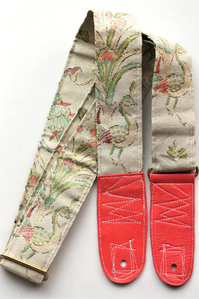 Singing Crane - Beautiful guitar strap - Mokuran (SC103117) =SALE=