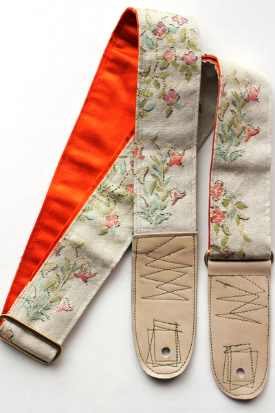 Singing Crane - Beautiful guitar strap - Mokuran-or (SC103217) =SALE=