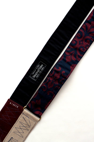 Singing Crane - Beautiful guitar strap - Kontetsu-bk (SC18052)