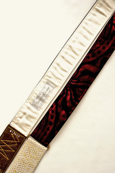 Singing Crane - Beautiful guitar strap - Kontetsu-cr (SC18053)