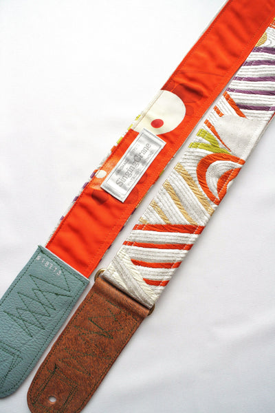 Singing Crane - Beautiful guitar strap - Kaihaku-or (SC18113)