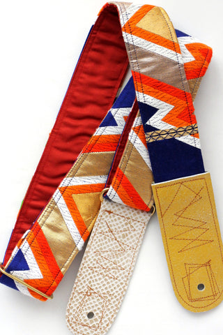Singing Crane - Beautiful guitar strap - Konjo-rd (SC18132)