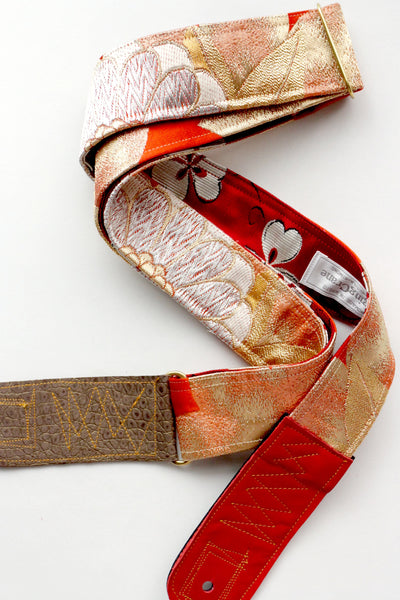 Singing Crane - Beautiful guitar strap - Kyouhi-rd (SC18163)