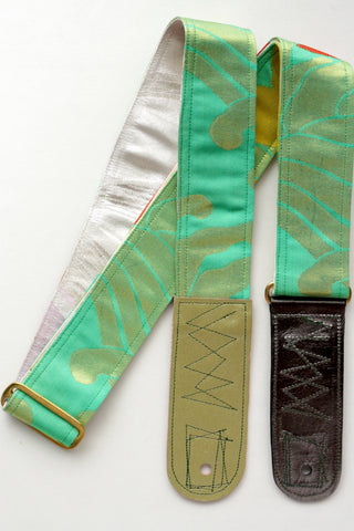 Singing Crane - Beautiful guitar strap - Hisui-pk (SC18171)