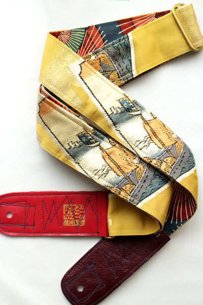 Singing Crane - Beautiful guitar strap - Kanaria-um (SC18193)