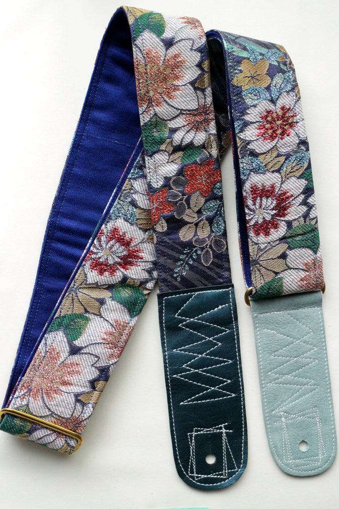 Singing Crane - Beautiful guitar strap - Ruri-bl (SC18213)