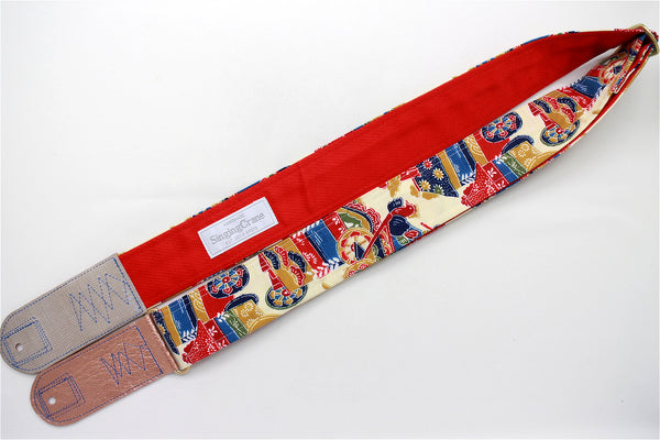Singing Crane - Beautiful guitar strap - SC519232