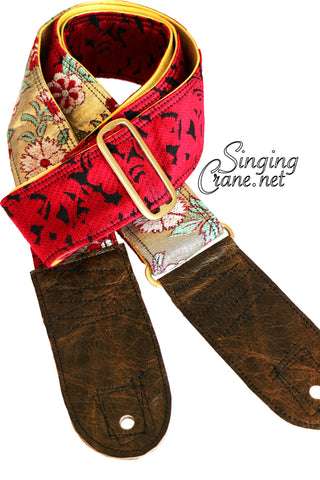 Singing Crane - Beautiful guitar strap - SC101315 : Roiro-yellow