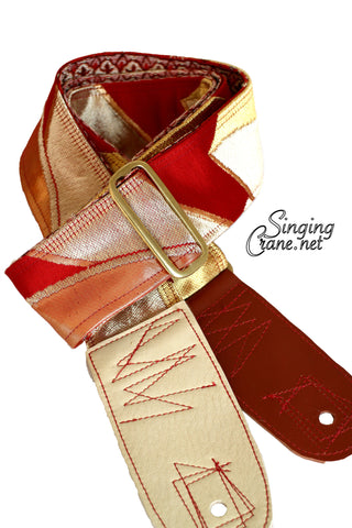 Singing Crane - Beautiful guitar strap - SC102215 : Beni-flower [only available on Reverb]
