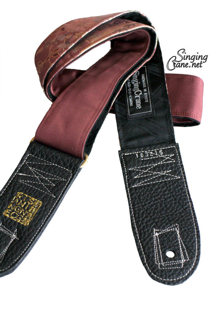 Singing Crane - Beautiful guitar strap - SC103215: Fuji-black [only available on Reverb]