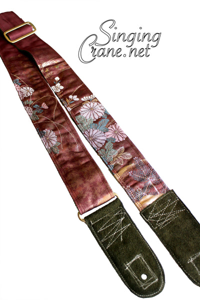 Singing Crane - Beautiful guitar strap - SC103315 : Fuji-green