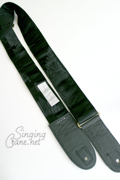 Singing Crane - Beautiful guitar strap - SC104115 : Shikkoku-original =SALE=