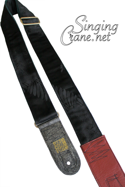 Singing Crane - Beautiful guitar strap - SC104315 : Shikkoku-green