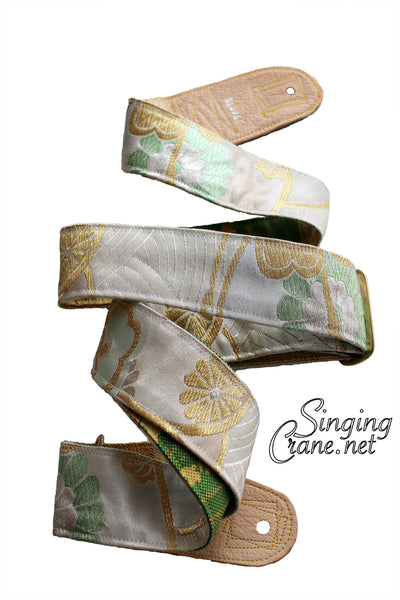 Singing Crane - Beautiful guitar strap - SC106215 : Unohana-green