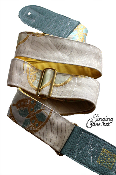 Singing Crane - Beautiful guitar strap - SC106315 : Unohana-yellow