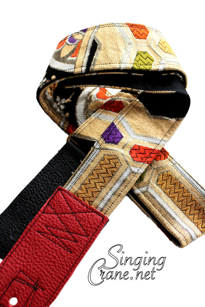 Singing Crane - Beautiful guitar strap - SC107215 : Nurebairo-black