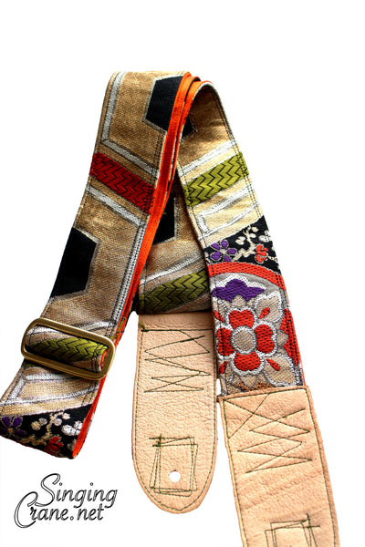 Singing Crane - Beautiful guitar strap - SC107315 : Nurebairo-orange