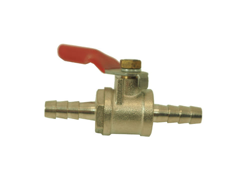 "Ball Valve- 1/4"" Barb X 1/4"" Barb - Doc's Cellar"