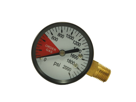Reg Replacement Gauge (0-2000psi) - Doc's Cellar