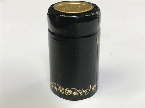 Capsules, Heat Shrink, Black/Gold - Doc's Cellar