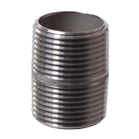 "Nipple, 3/4"" MPT, Stainless - Doc's Cellar"