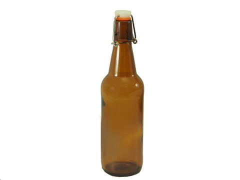 Flip Tops, Straight Side (Amber) 500ml - Doc's Cellar