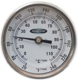 "Thermometer - 3"" Dial, 1/2"" NPT, 2"" Stem, Weldless - Doc's Cellar"