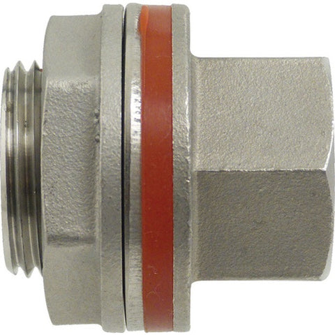 "Weldless Bulkhead, 1/2"" FPT x 1/2"" FPT - Doc's Cellar"