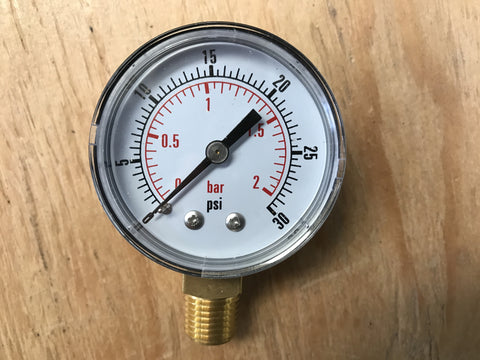 Reg Replacement Gauge (0-30psi) - Doc's Cellar