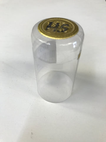 Capsule, Heat Shrink, Clear w/ Gold Top - Doc's Cellar