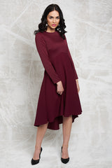Satin and Crepe High Low Dress (More Colors Available)