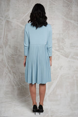 FINAL SALE Pleated Sweater Dress in Mint