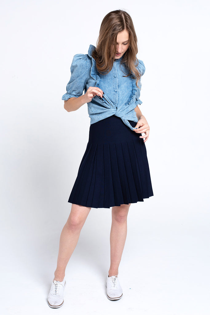 The Infinity Skirt in Navy