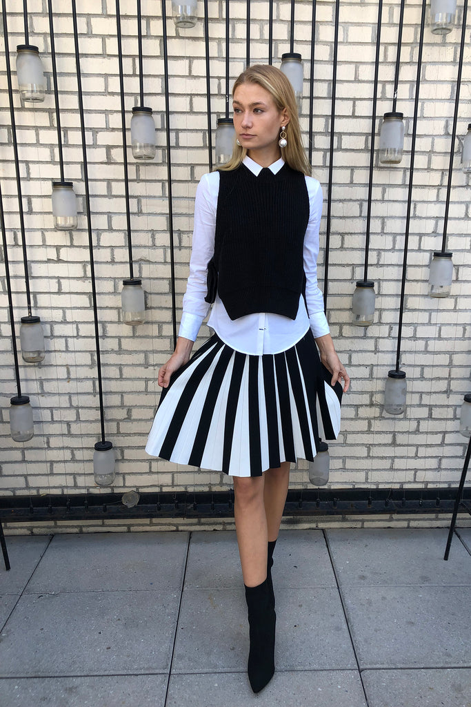 The Infinity Skirt in Black/White
