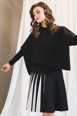 Dolman Sleeve Sweater in Black