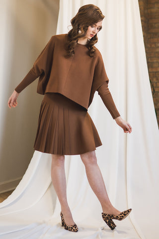 Dolman Sleeve Sweater in Caramel