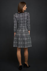 FINAL SALE Plaid Sweater Dress