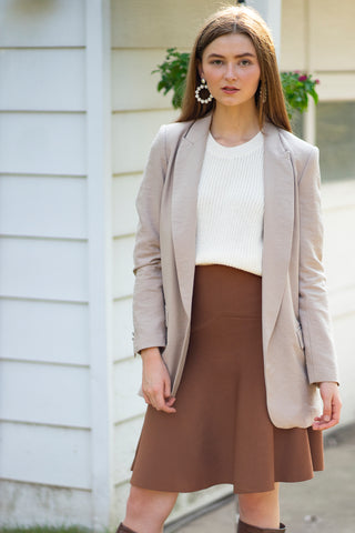 The Alpha Skirt in Caramel - New Fit