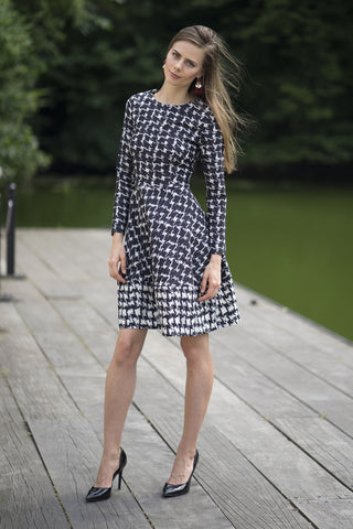 FINAL SALE Printed Flare Dress