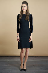 FINAL SALE Ponte Dress with Velvet Back (More Colors Available)