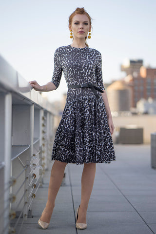 Leopard Print Tiered Jersey Dress