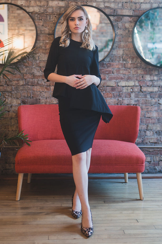 The Perfect Pencil Skirt in Black
