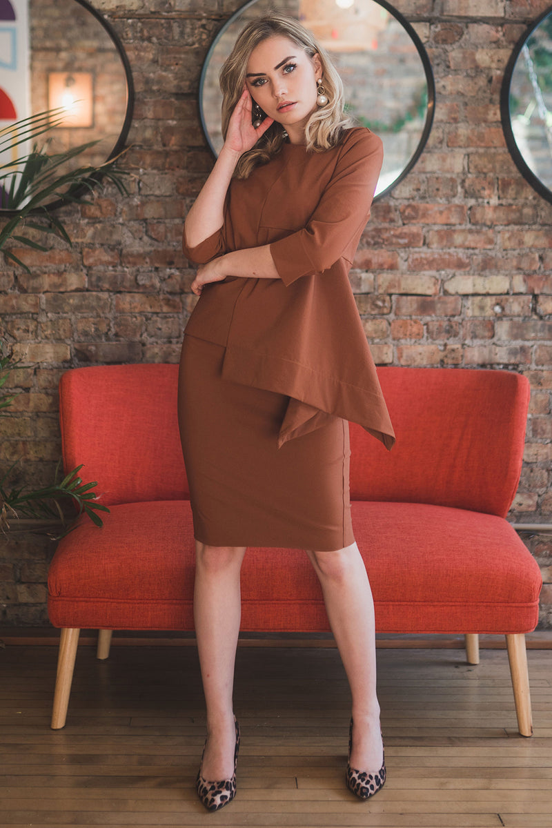 The Perfect Pencil Skirt in Burnt Orange