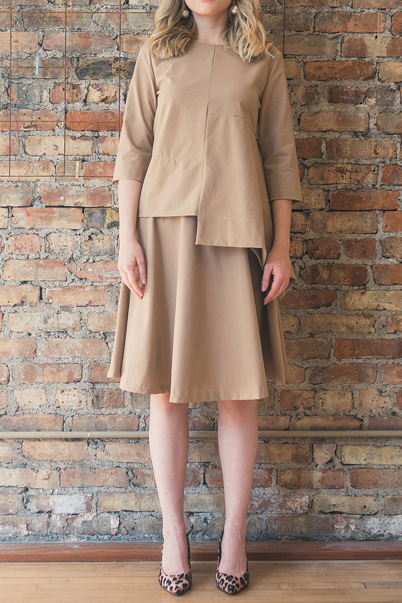 The Circle Skirt in Beige