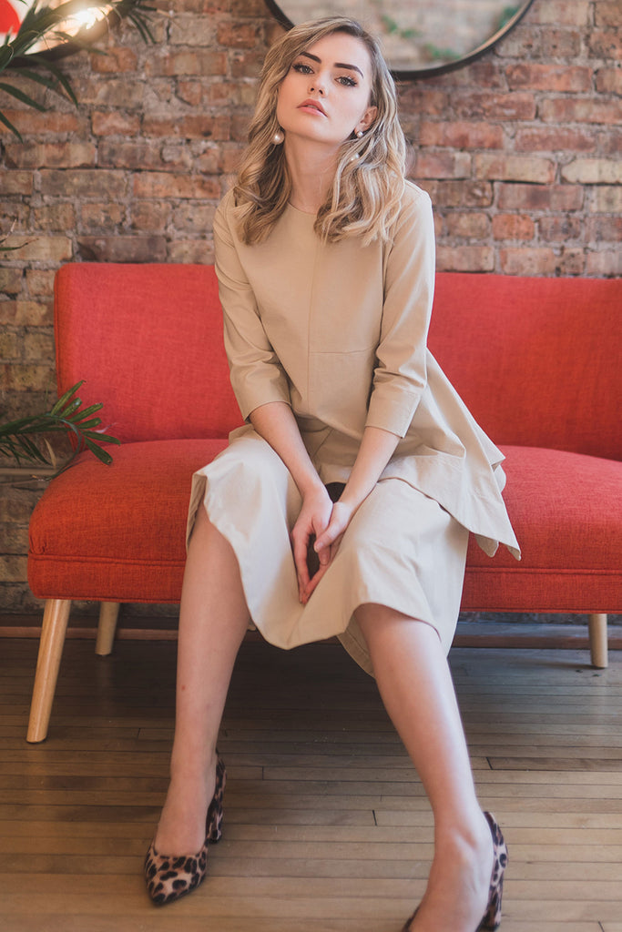 The Circle Skirt in Light Tan