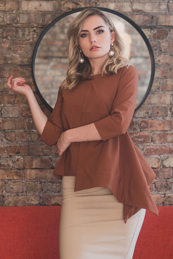 The Tetra Top in Burnt Orange