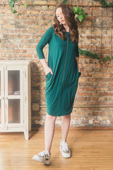 The Everything Dress in Emerald